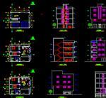 نقشه-اتوکد-ساختمان-سه-طبقه-با-پیلوت