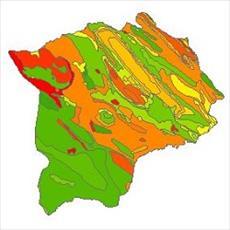 نقشه زمین شناسی شهرستان گچساران