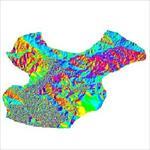 نقشه-ی-رستری-جهت-شیب-شهرستان-ارسنجان-(واقع-در-استان-فارس)