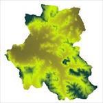 نقشه-ی-مدل-رقومی-ارتفاعی-شهرستان-ملایر