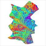 نقشه-ی-رستری-جهت-شیب-شهرستان-خرم-بید-(واقع-در-استان-فارس)