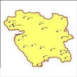 شیپ-فایل-شهرهای-استان-کردستان-به-صورت-نقطه-ای