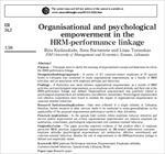 مقاله-ترجمه-شده-توانمندسازی-سازمانی-و-روانی-(روان-شناختی)-در-ارتباط-بین-مدیریت-منابع-انسانی-و-عملکرد
