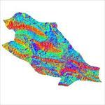 نقشه-ی-رستری-جهت-شیب-شهرستان-جهرم-(واقع-در-استان-فارس)