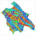 نقشه-ی-رستری-جهت-شیب-شهرستان-اردل-(واقع-در-استان-چهارمحال-و-بختیاری)
