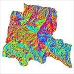 نقشه-ی-رستری-جهت-شیب-شهرستان-بستان-آباد-(واقع-در-استان-آذربایجان-شرقی)