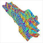 نقشه-ی-رستری-جهت-شیب-شهرستان-کوهرنگ-(واقع-در-استان-چهارمحال-و-بختیاری)