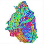 نقشه-ی-رستری-جهت-شیب-شهرستان-تکاب-(واقع-در-استان-آذربایجان-غربی)