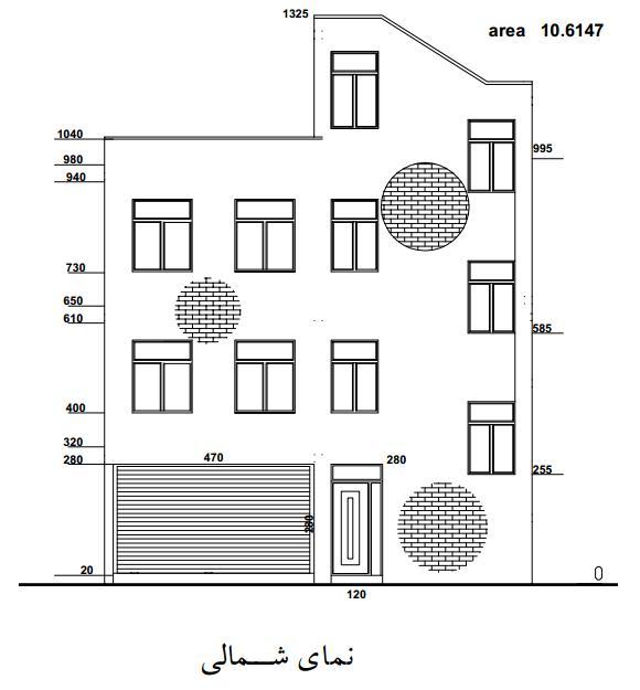 پروژه متره و برآورد ساختمان مسكوني 3