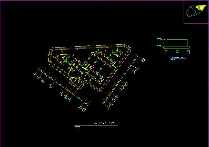 نقشه هاي سازه اي ساختمان 6 طبقه