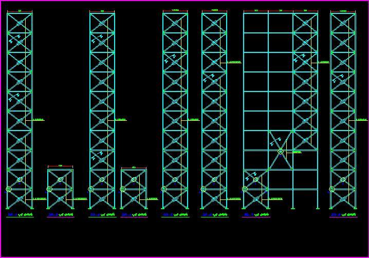 نقشه هاي سازه اي ساختمان 10 طبقه فلزي