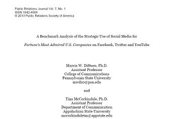 مقاله ترجمه شده با عنوان تجزیه و تحلیل معیاری از استفاده استراتژیک از رسانه های اجتماعی در...