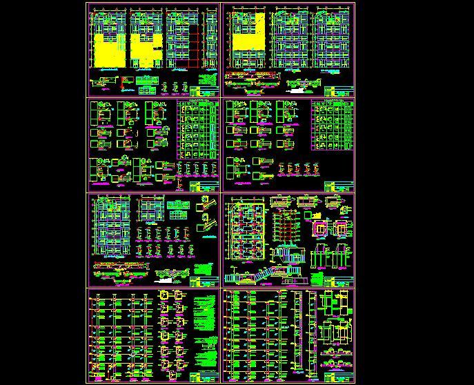 نقشه هاي سازه اي ساختمان 9 طبقه فلزي