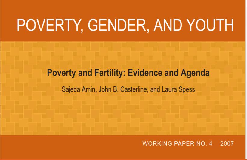 تحقیق ترجمه شده  با عنوان فقر، جنسیت و جوانی