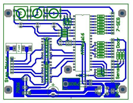 پروژه شبيه ساز آسانسور با ميكروكنترلر Atmega16