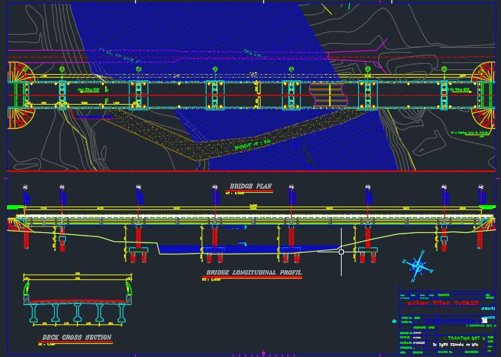 نقشه های اتوکد کامل پل