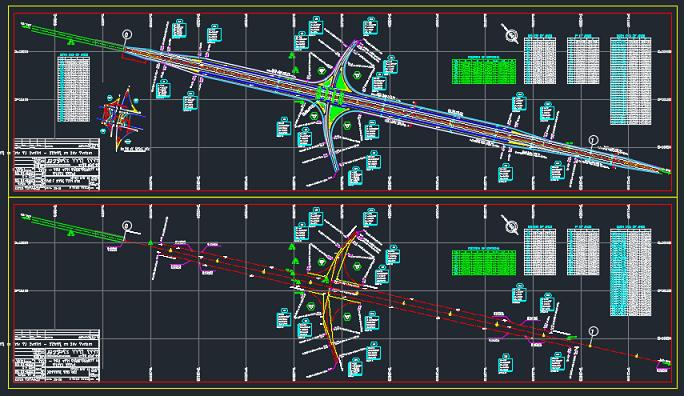 نقشه های کامل اتوکد پل روگذر