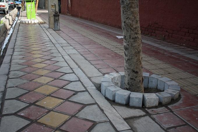 تعیین ضخامت مؤثر سنگ فرش پیاده رو
