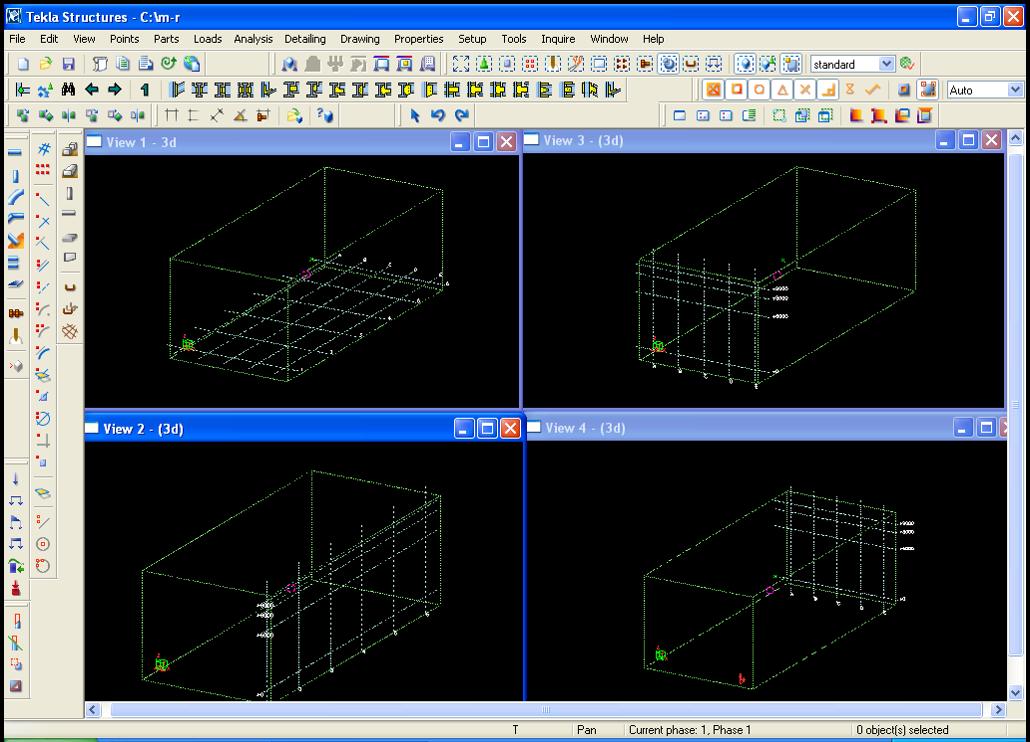 پاورپوینت آشنایی با نرم افزار تکلا استراکچر در بخش فلزی (Tekla Structure X Steel)
