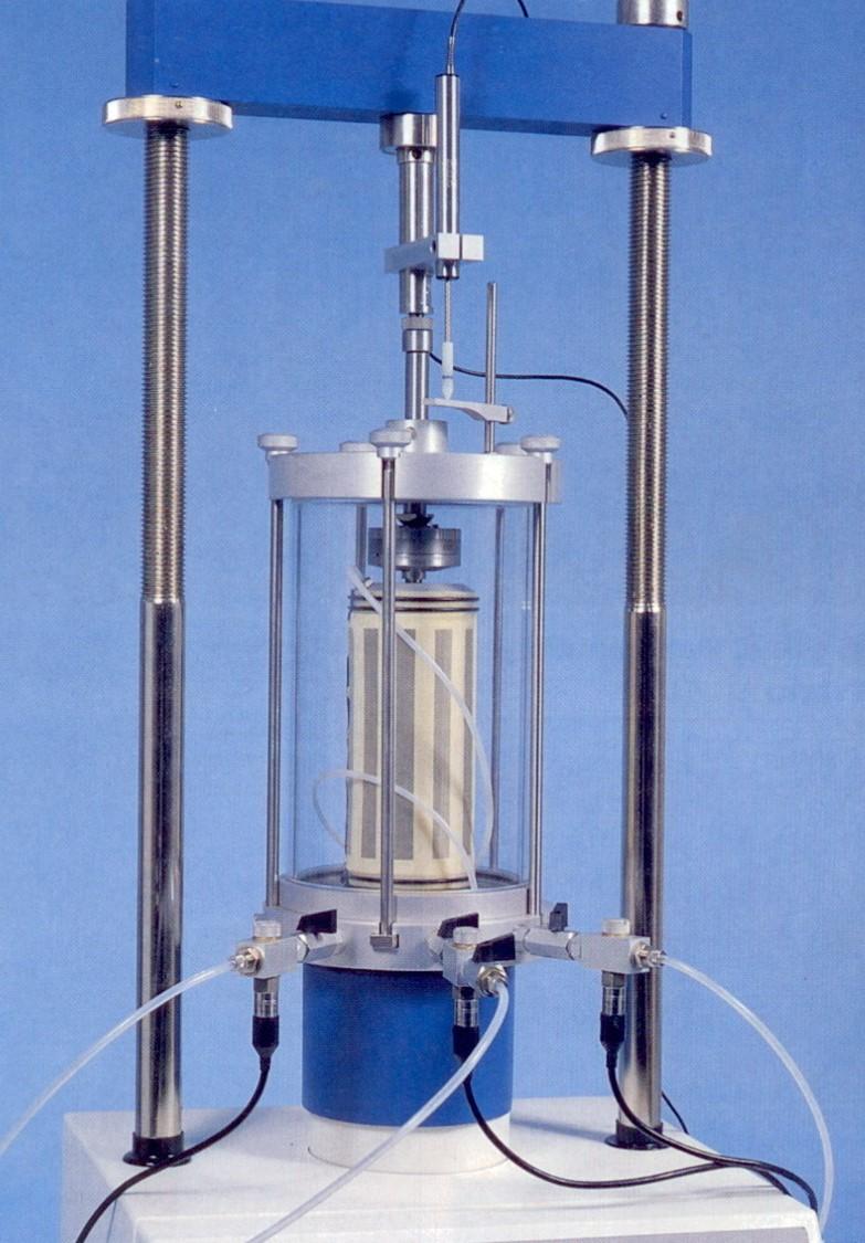 پاورپوینت روش استاندارد آزمایش سه محوری مقاومت فشاری تحکیم نشده- زهکشی نشدة خاک های چسبنده