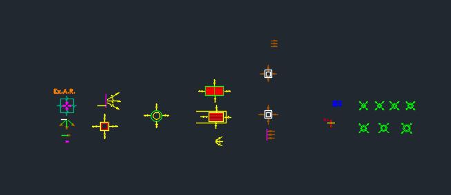 مجموعه سمپل اتوكد جهت و فلش
