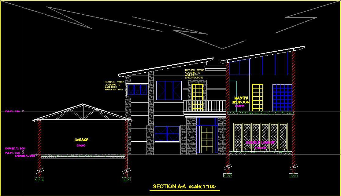 پلان معماري اتوكد طرح 37