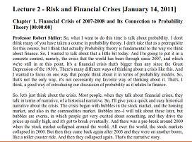 ترجمه متن ریسک و بحران مالی، به همراه اصل مقاله